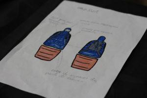 Desenho do projeto no papel